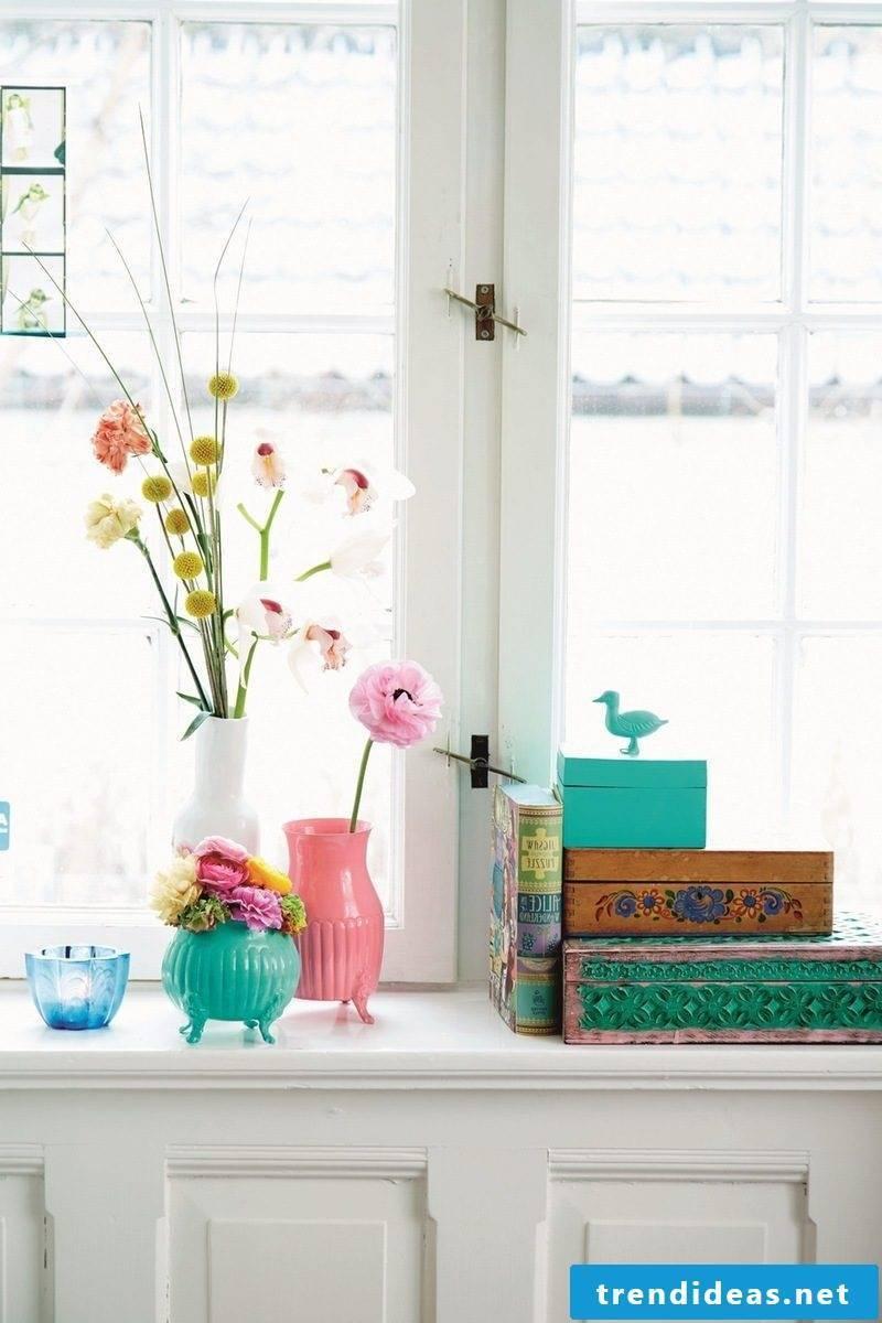 Living room spring decoration Ideas - floral