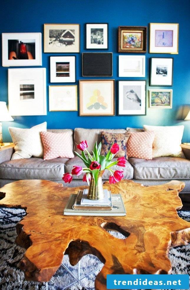 colorful spring decoration in the living room