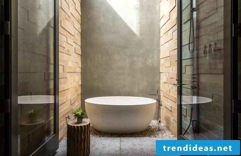 Luxury bathroom inspired by nature
