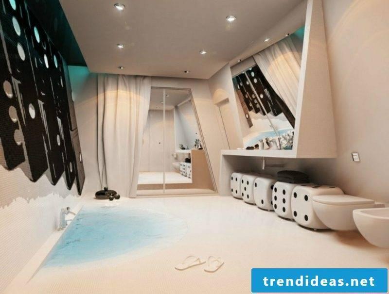 Luxury bathroom fancy look original designer concept