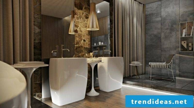 Luxury bathroom massive vanity units porcelain mirror