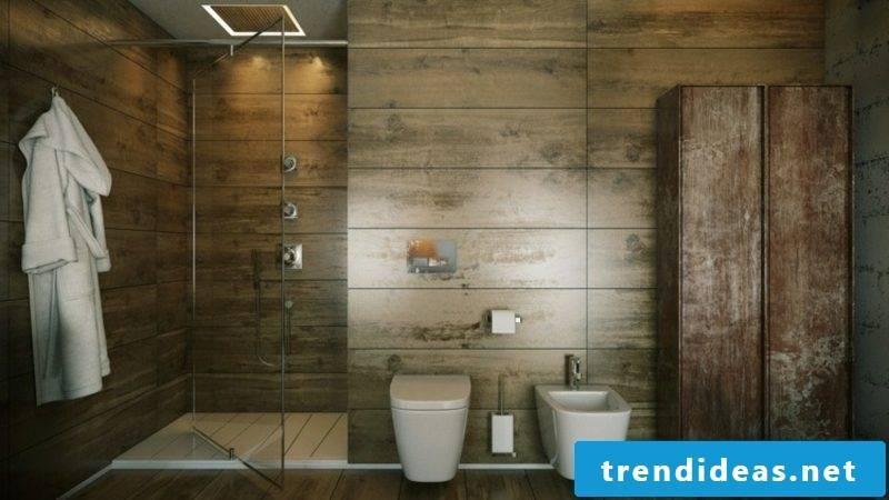 Luxury bathroom wall paneling wood panels shower cabin
