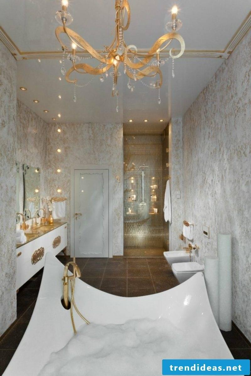 Luxury bathroom royal look huge bathtub in porcelain