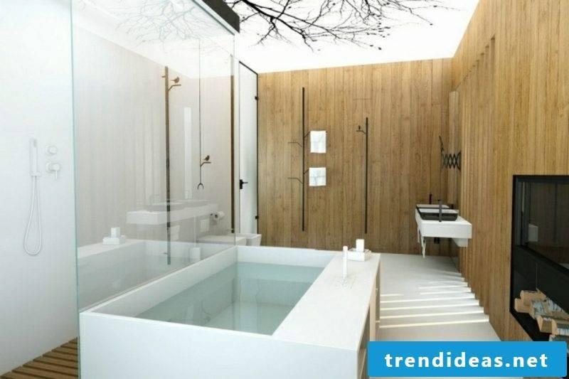 Luxury bathroom inspired by nature huge bathtub