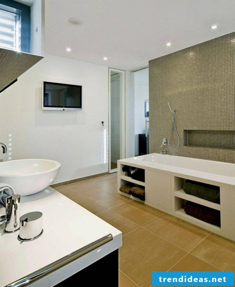 Luxury bathroom neutral color scheme flooring wood