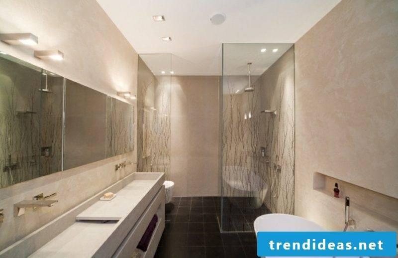 Luxury bathroom modern glass shower cubicle