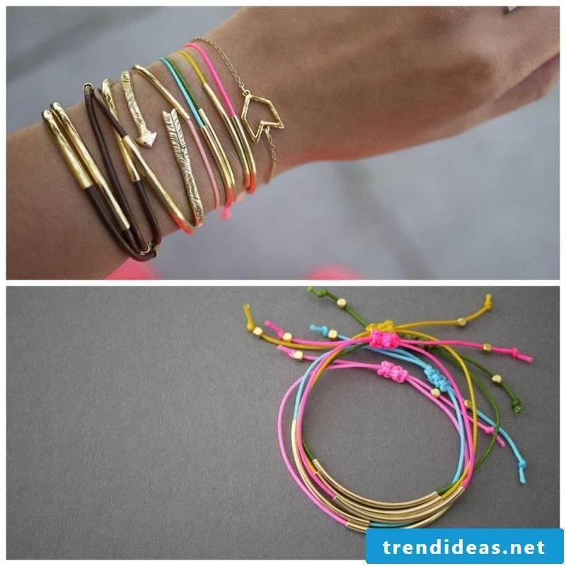 bracelets colorfully tie