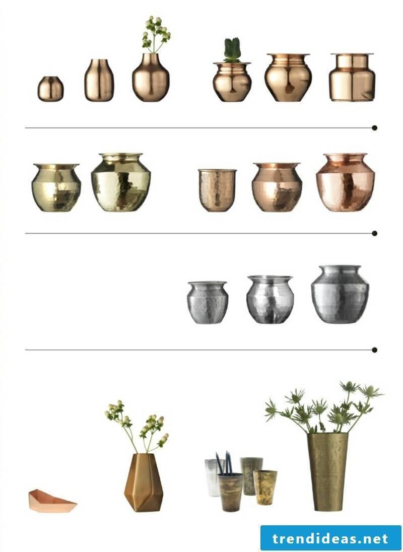 madam stoltz copper silver vases