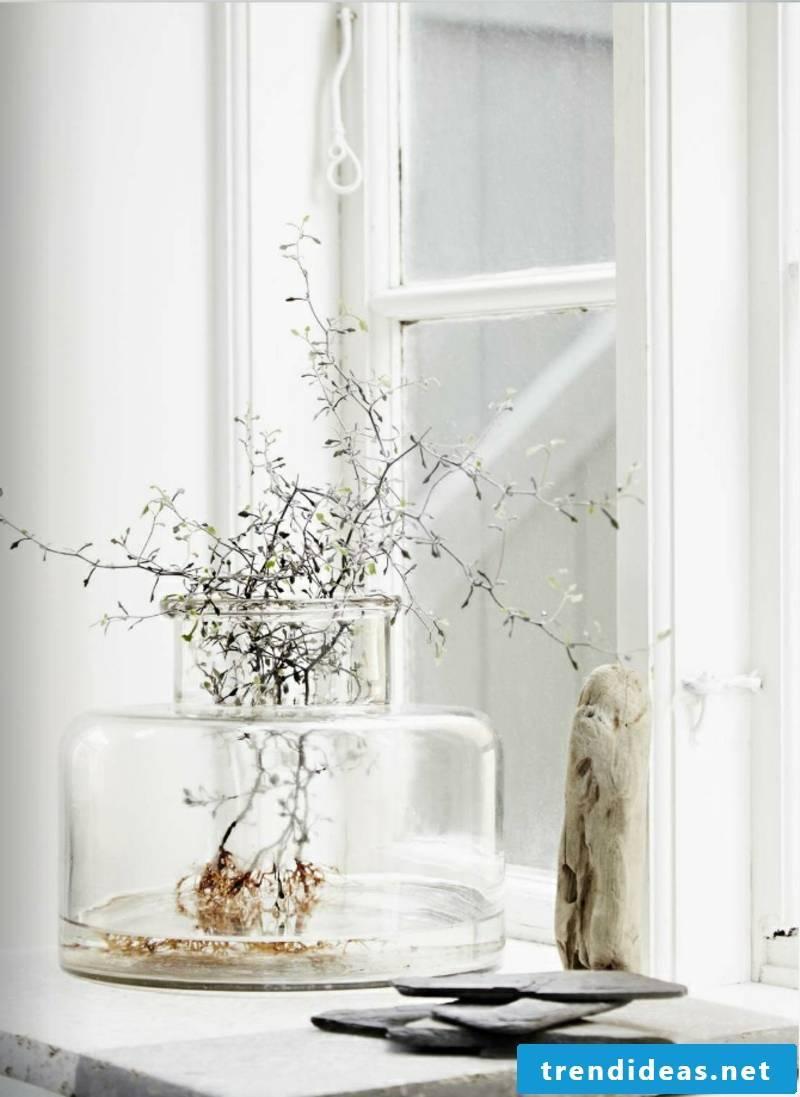 madam stoltz vase storage glass