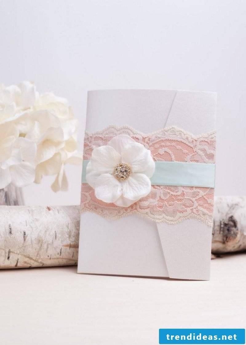 Wedding invitations make flowers