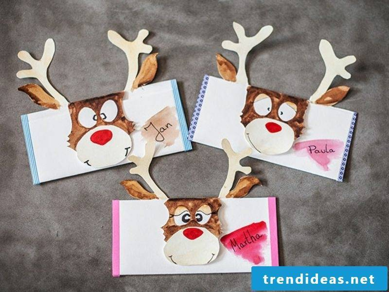 Voucher make Christmas reindeer