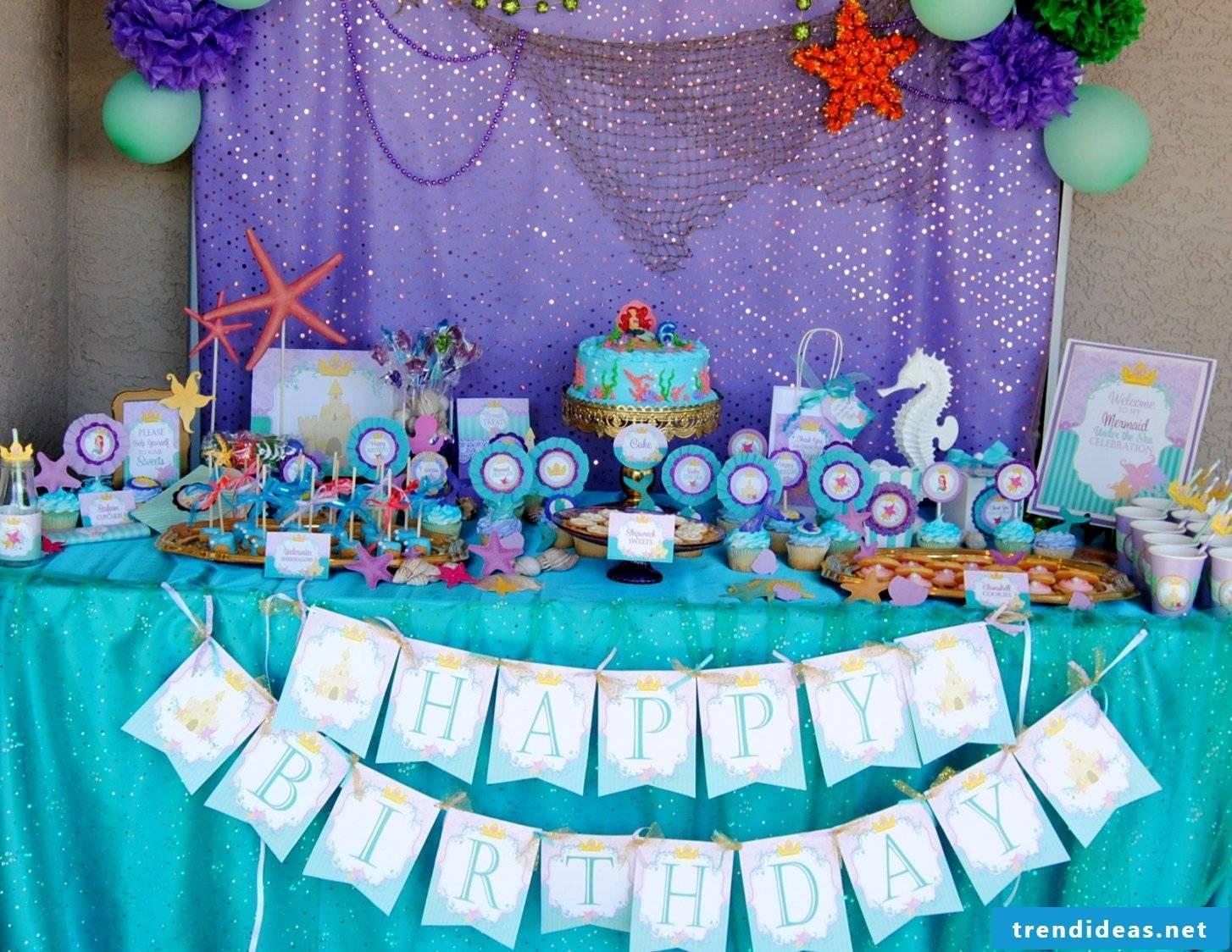 Craft Ideas for Kids Birthday Ariel Party