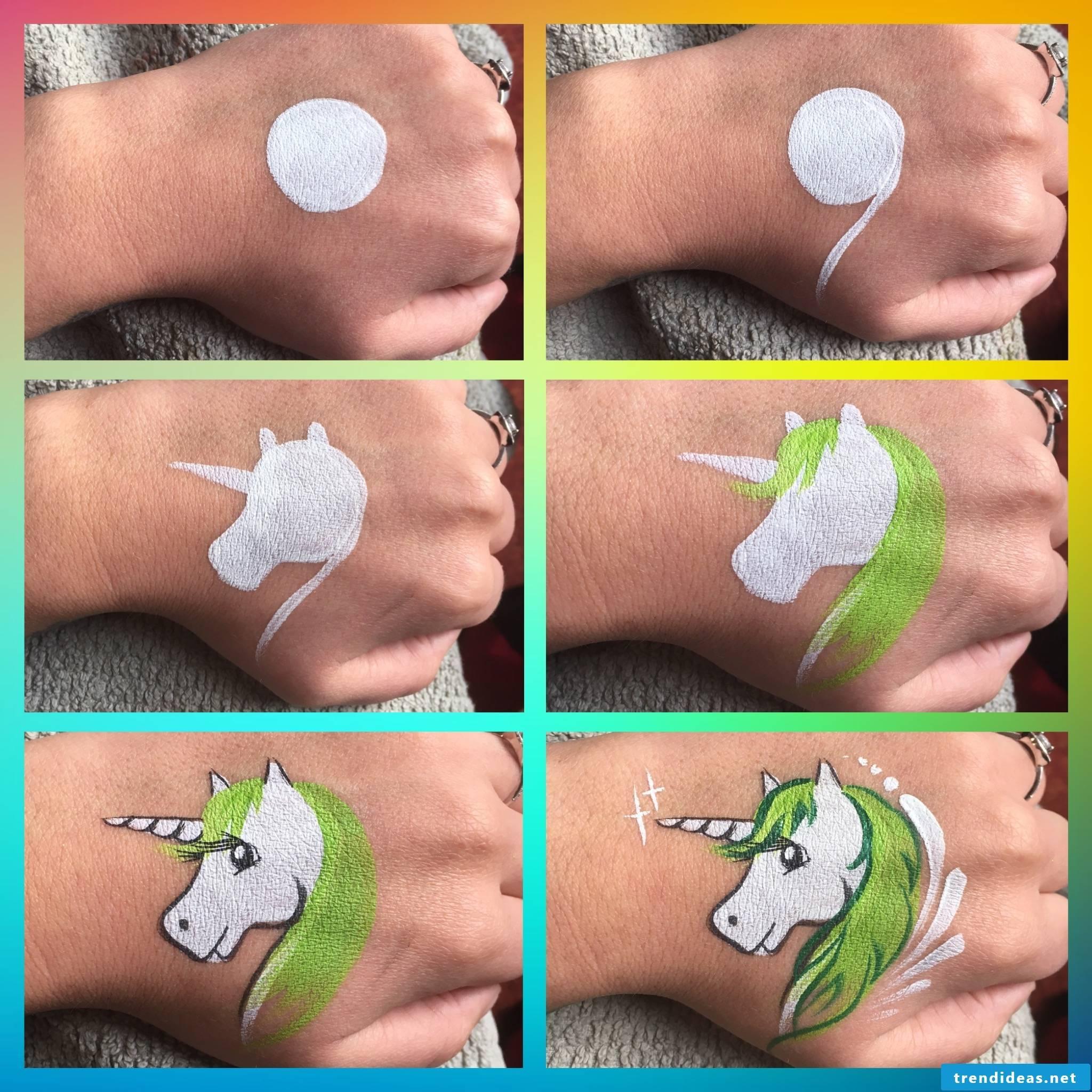 Unicorn paint guide