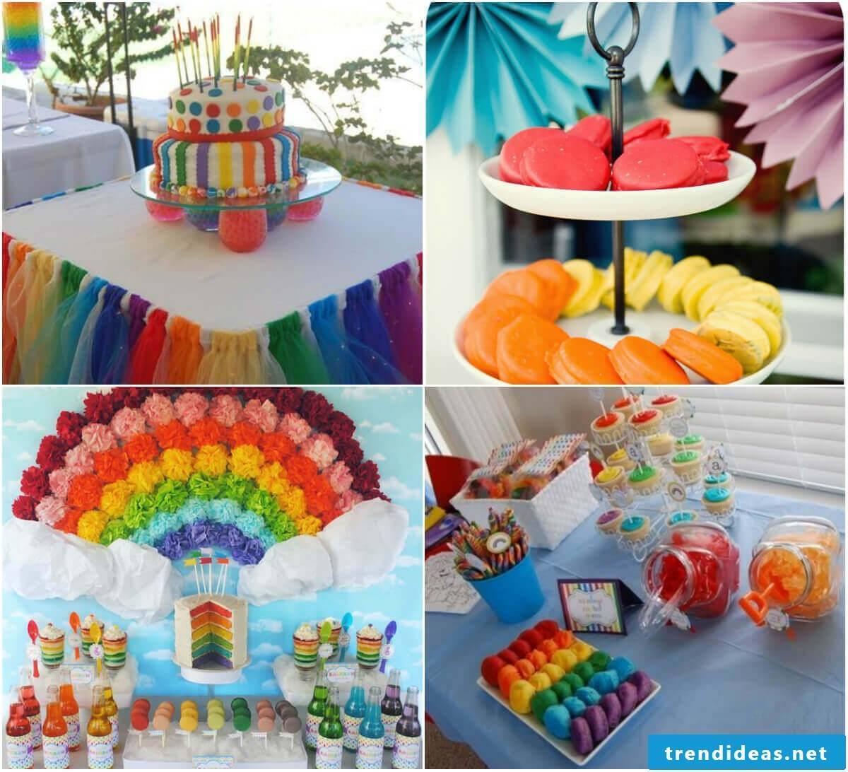 Rainbow Party with Rainbow Decoration