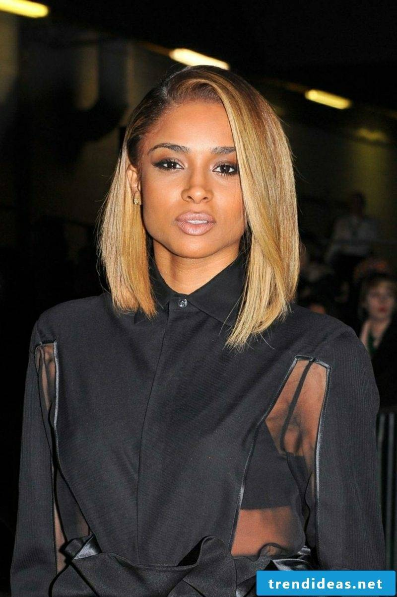 Long Bob Blonde Straight Hair Ciara