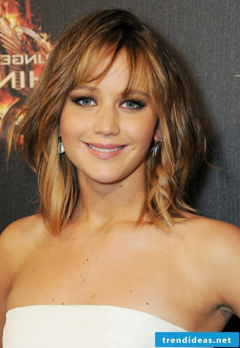 long bob with pony Jennifer Lawrence