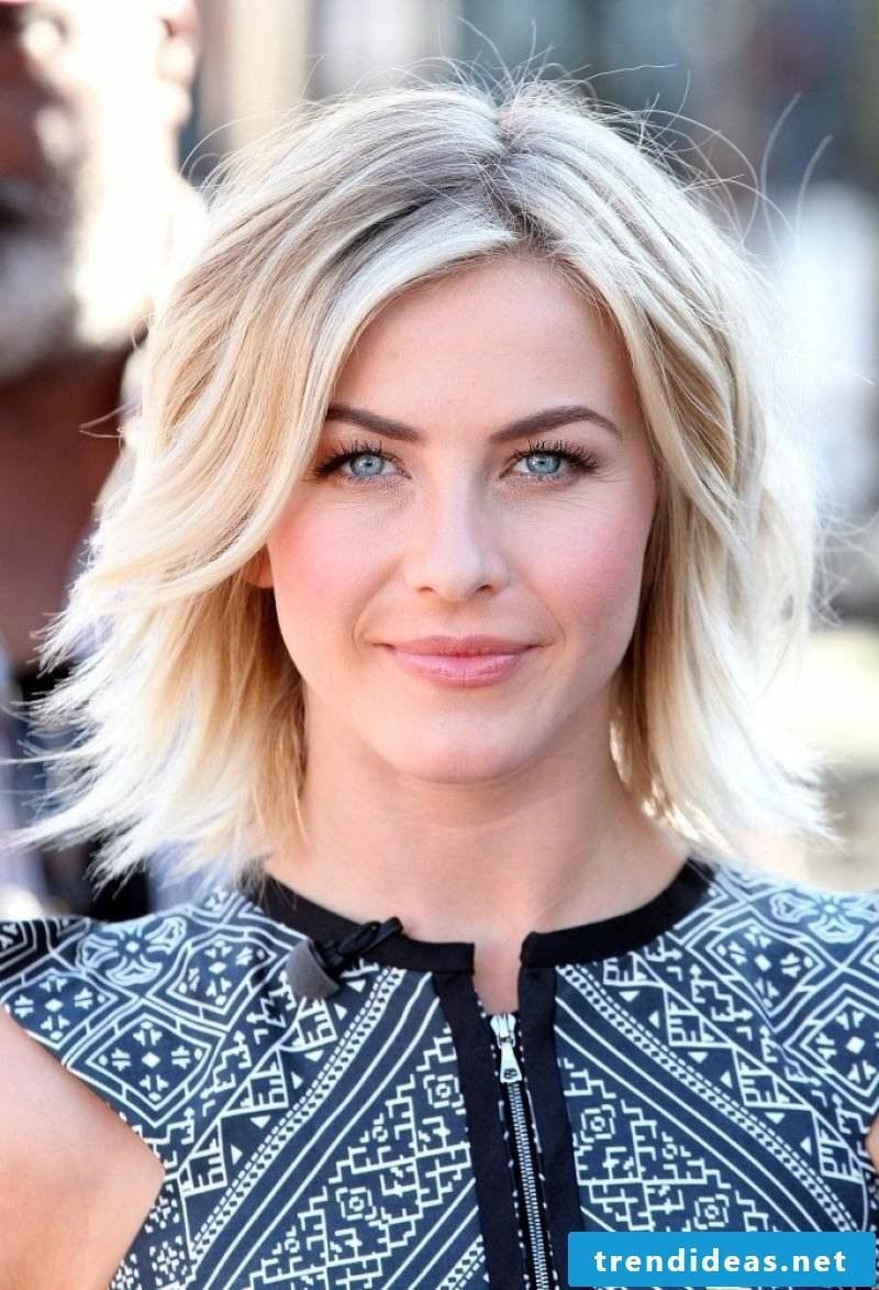 Long Bob Blond Modern Hairstyles