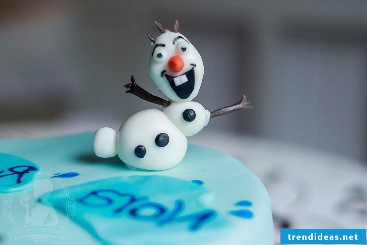 Frozen cake make motifs pie yourself