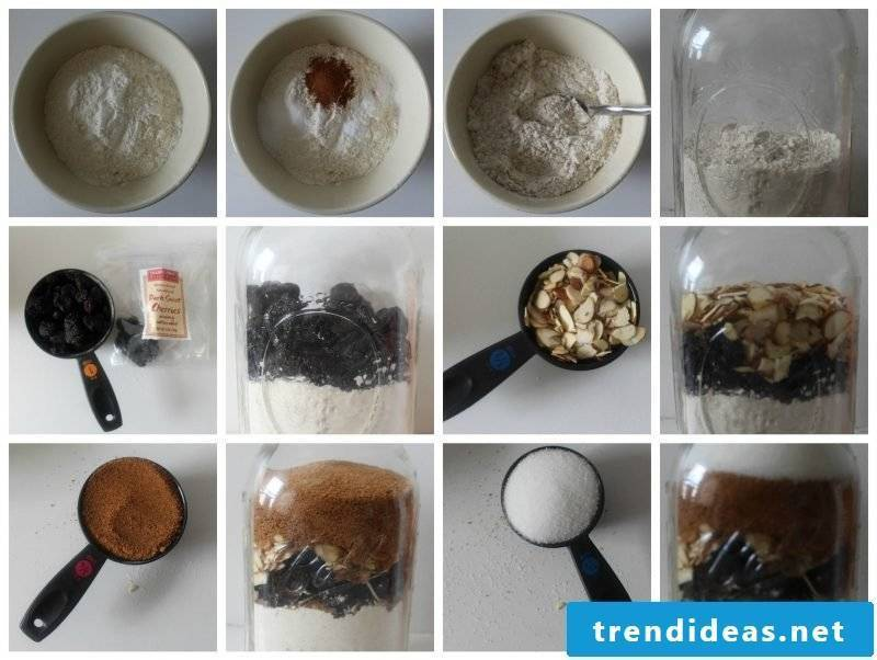 Make baking mix in the glass itself - biscuit recipe