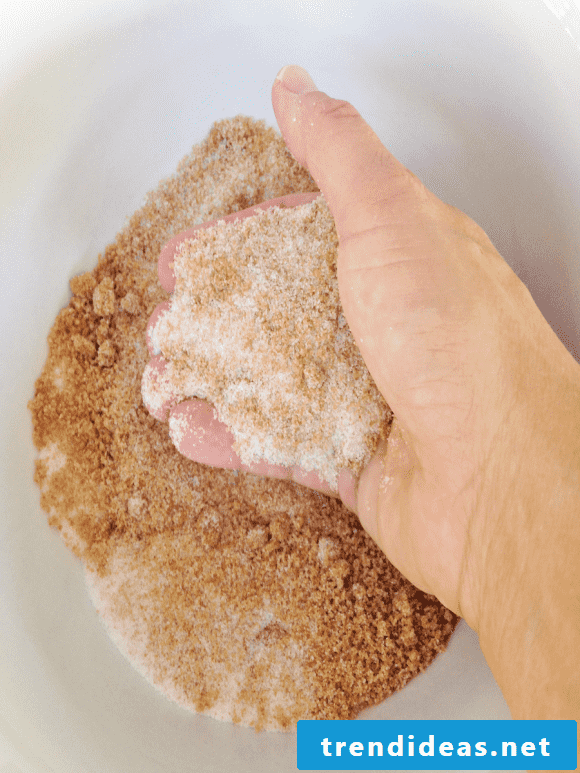 Make baking mix in the glass yourself - make gifts yourself