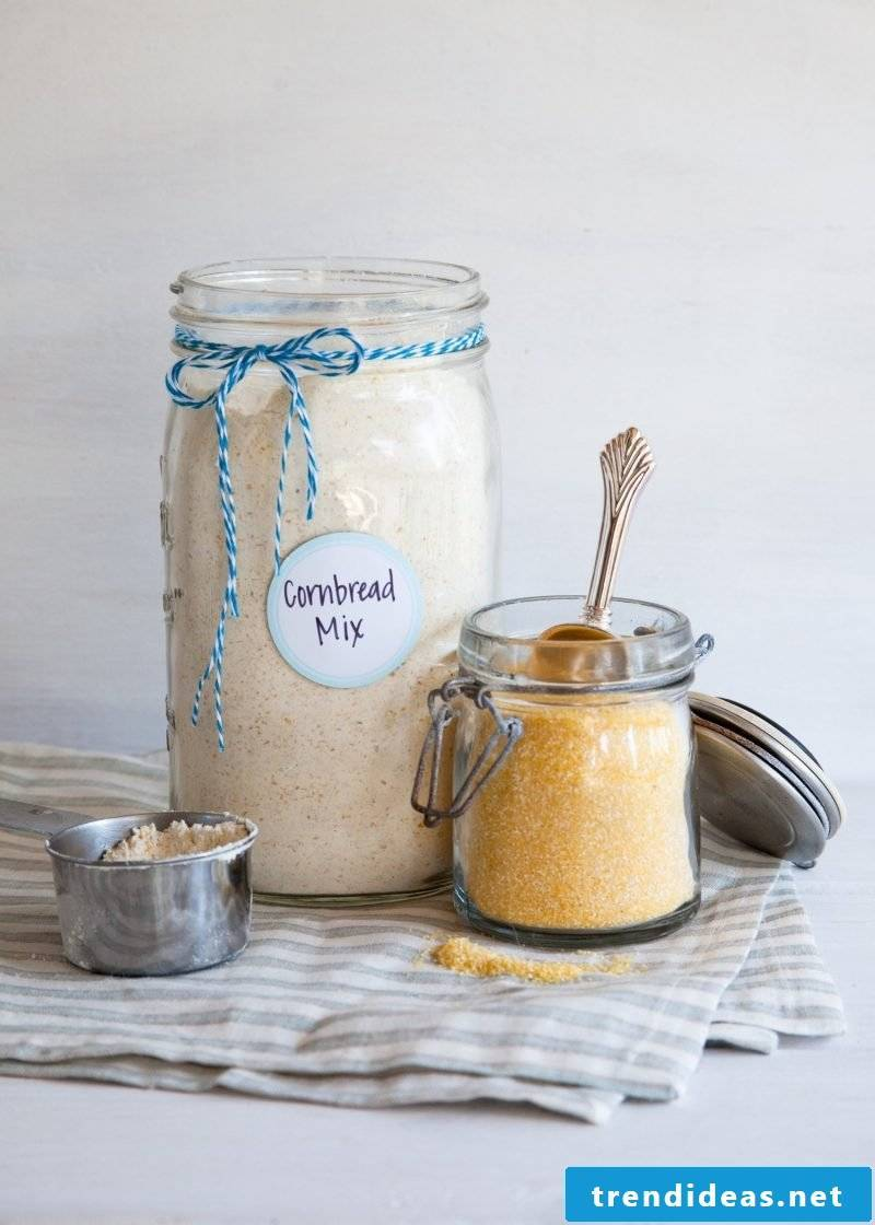 Give bread in the glass - baking mix in the glass recipe