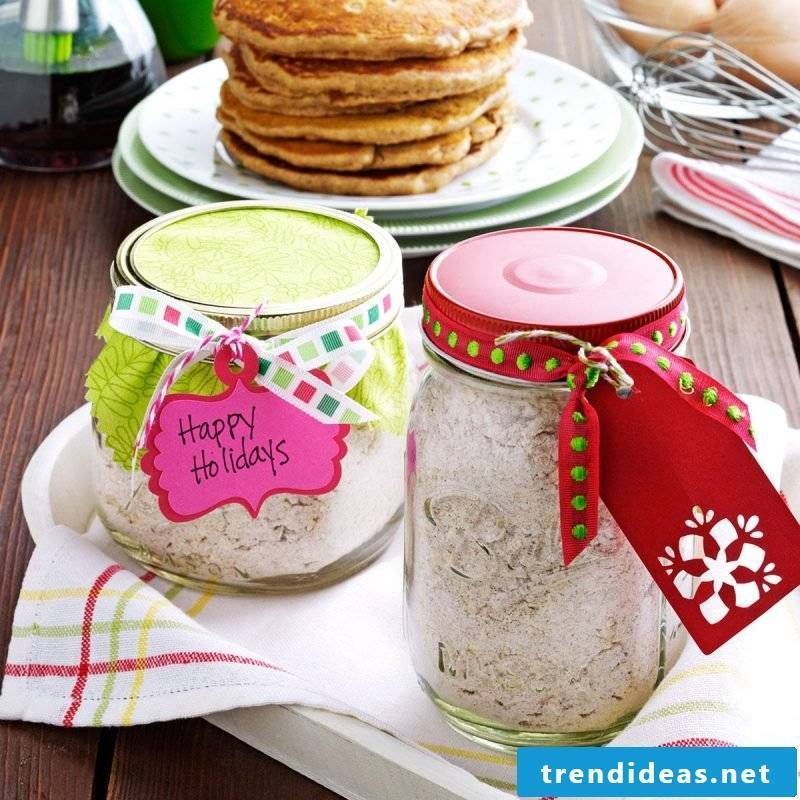 Make baking mix in the glass itself - pancakes in the glass