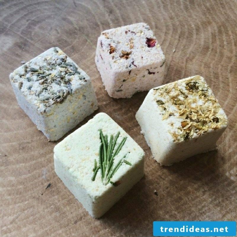 Cold bath itself make bath balls with herbs