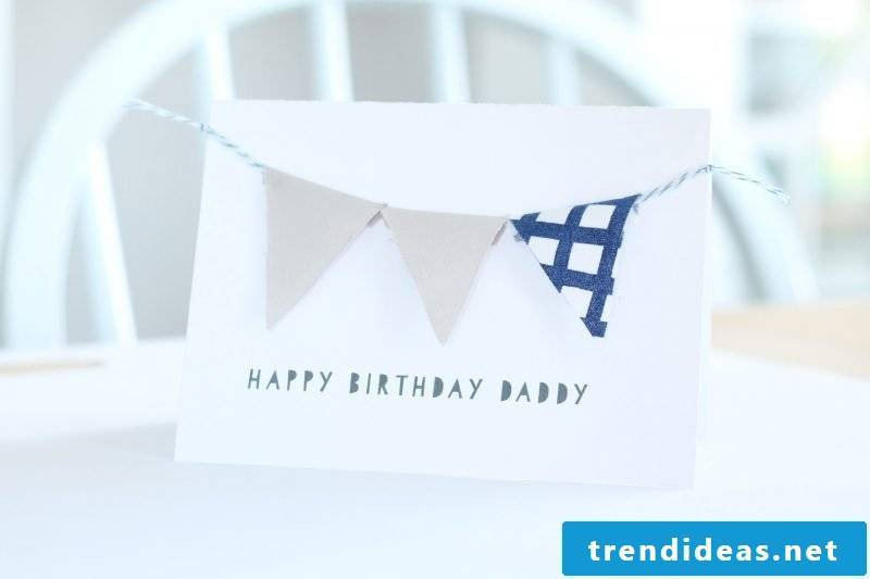 Another guide for sewing crazy: Make remnants of birthday cards yourself