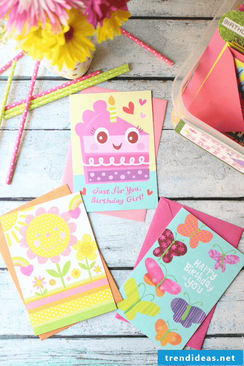 Make birthday cards: pop-up card, recycling crafts + 63 manuals