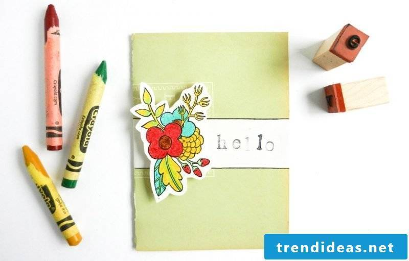 Recycling birthday cards yourself - DIY instructions