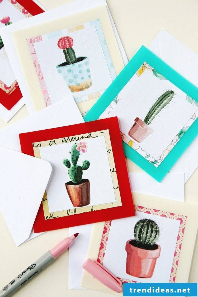 Recycling crafts - make a birthday card yourself