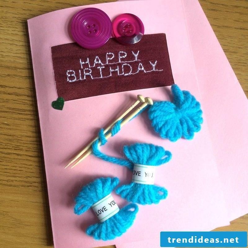 Make birthday card yourself