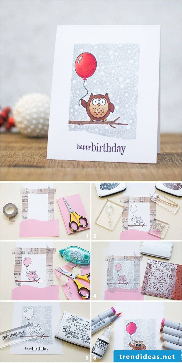 Make birthday card yourself instructions