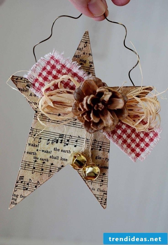 Make Christmas stars for a nice party