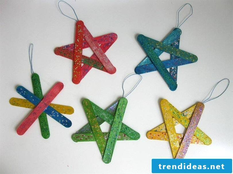 Christmas stars made of wood