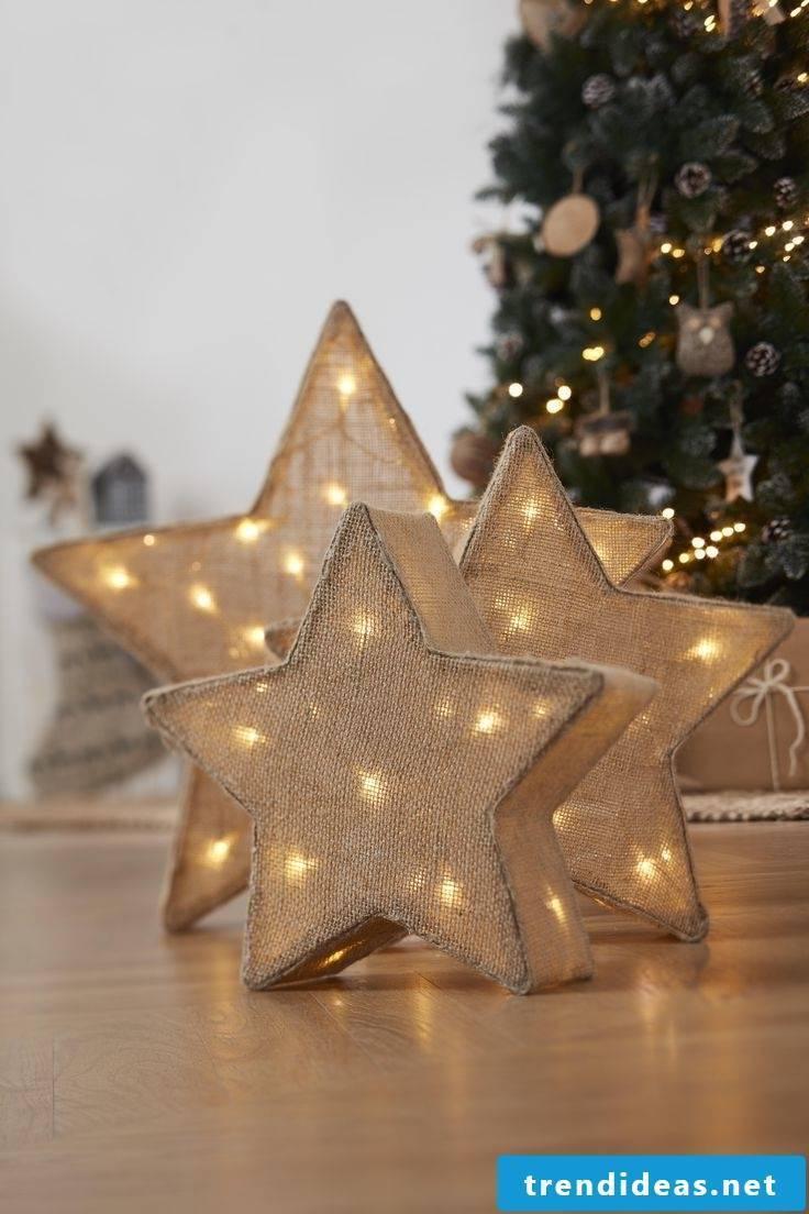 Christmas stars with light