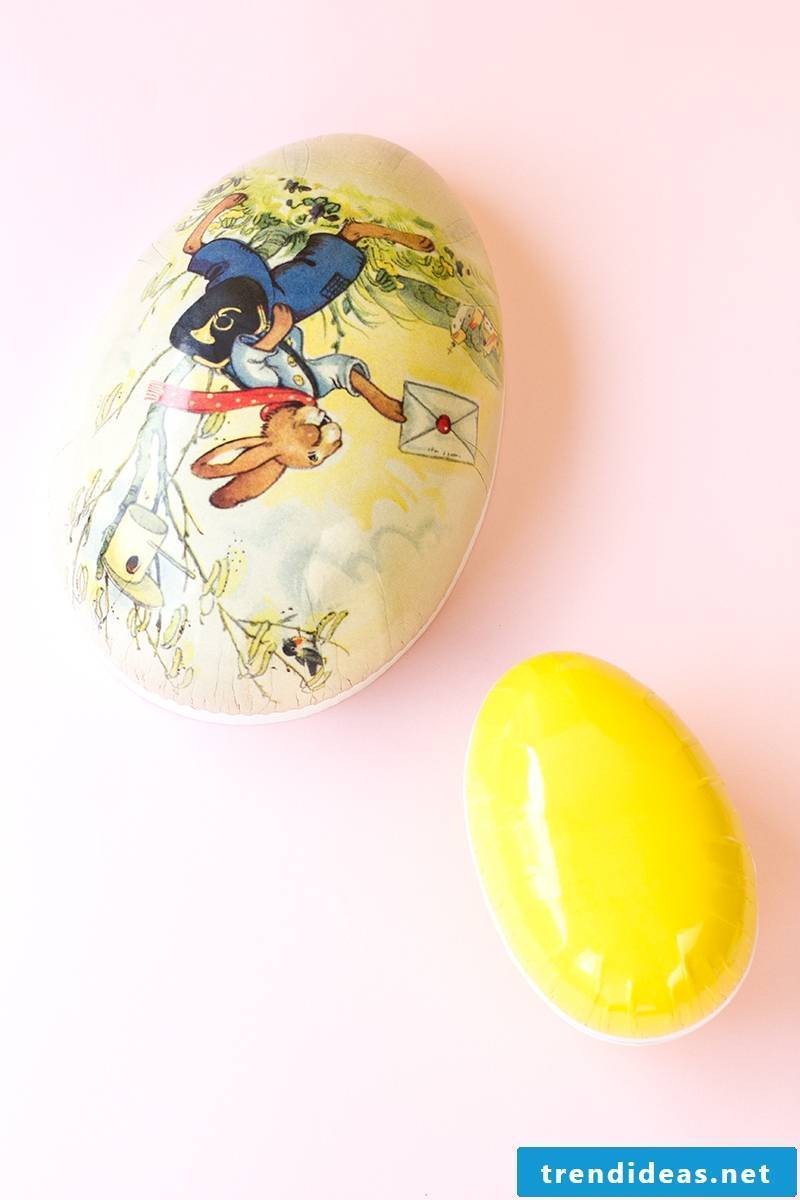 Make Easter baskets with decoupage technique