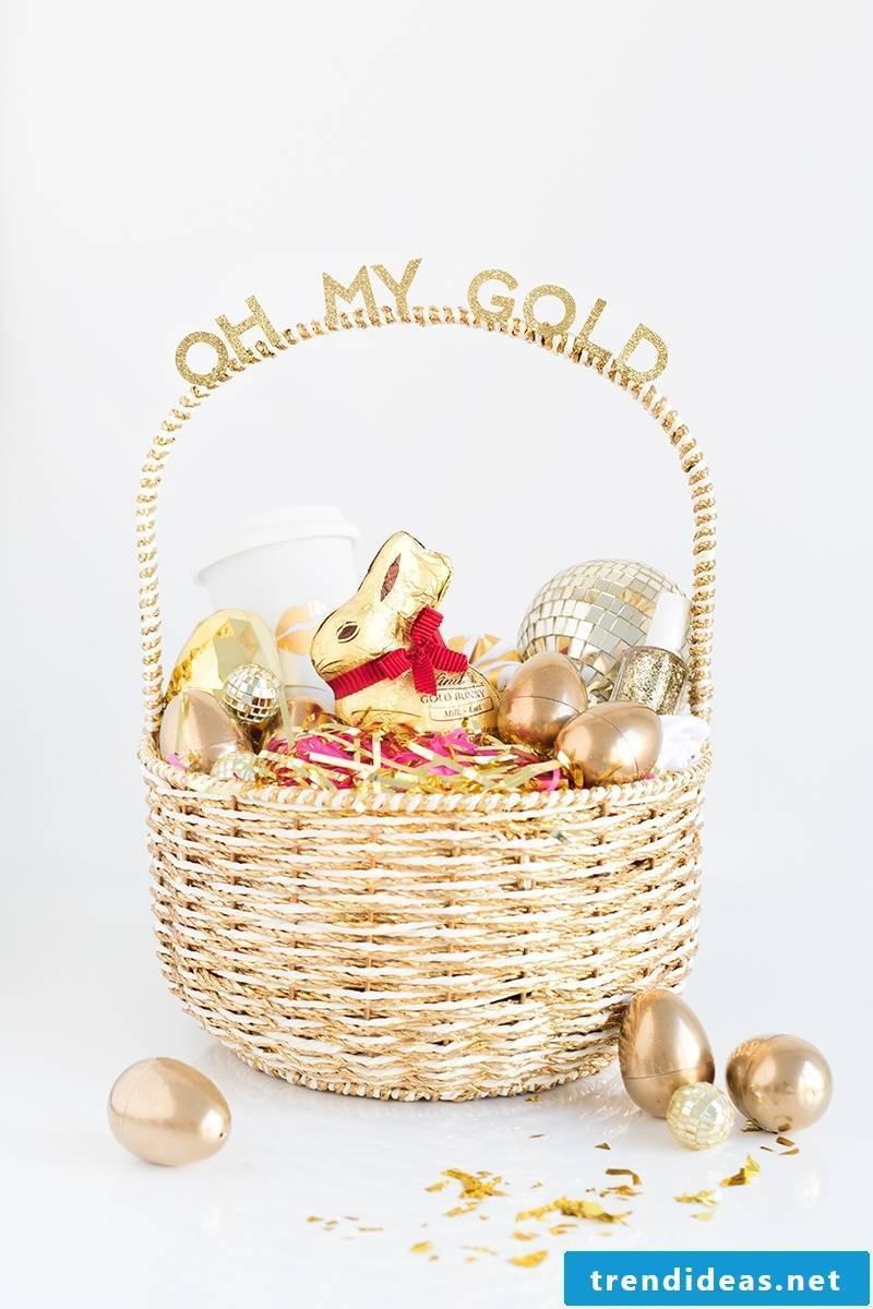 Easter baskets make golden