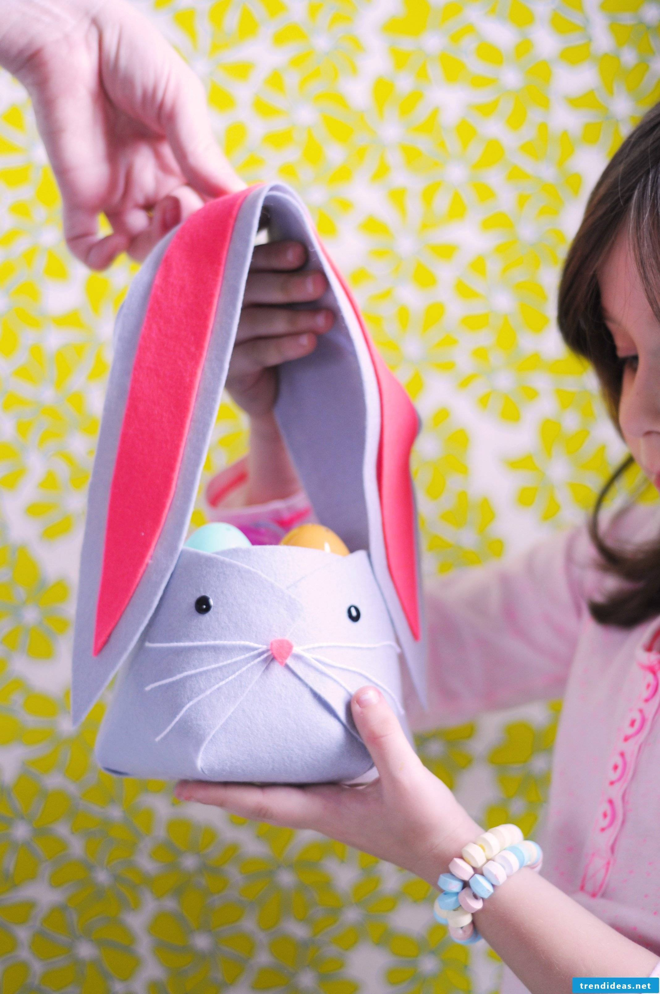 Sew Easter baskets - ideas with felt