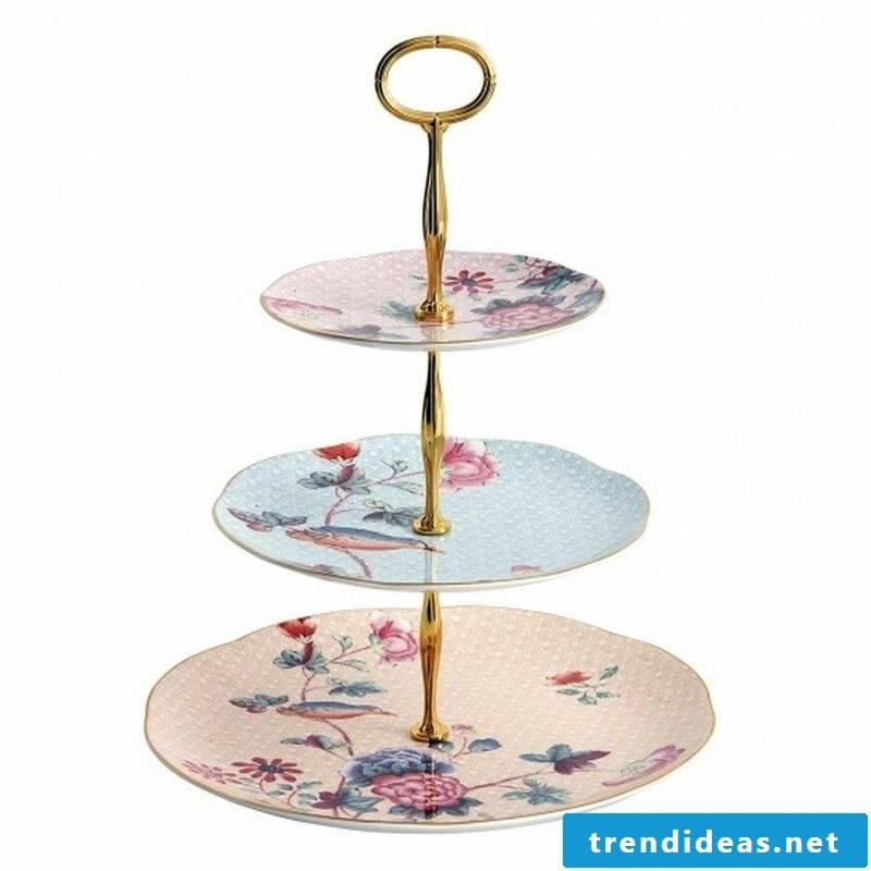 Etagere originally decorated plates