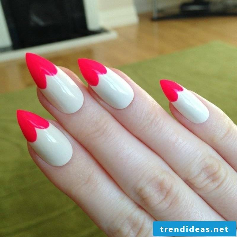 Nail art design Spitz French Nails heart gorgeous look