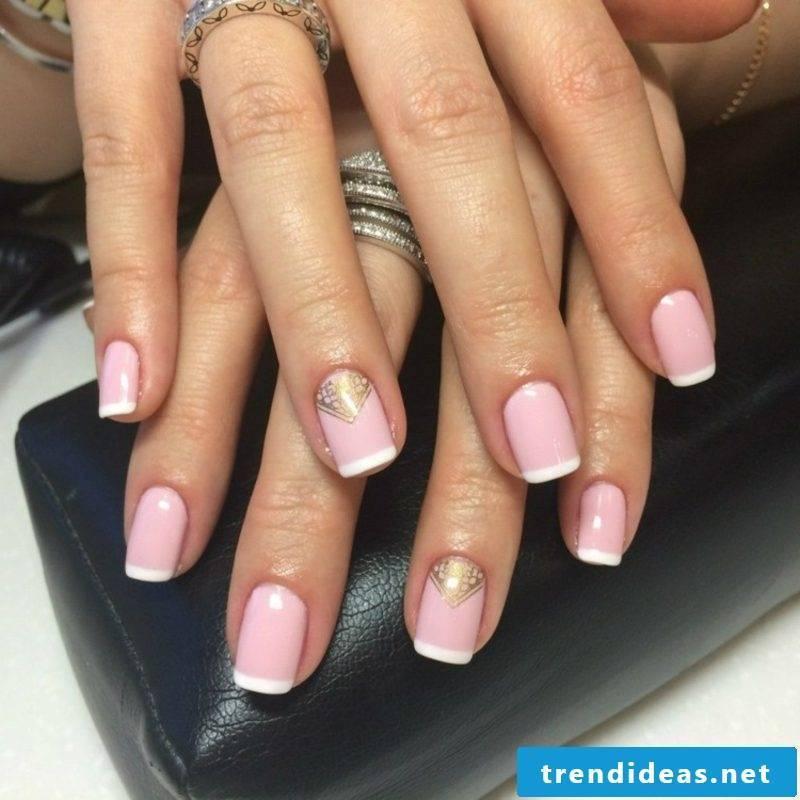 Nail design itself make French Nails elegant look