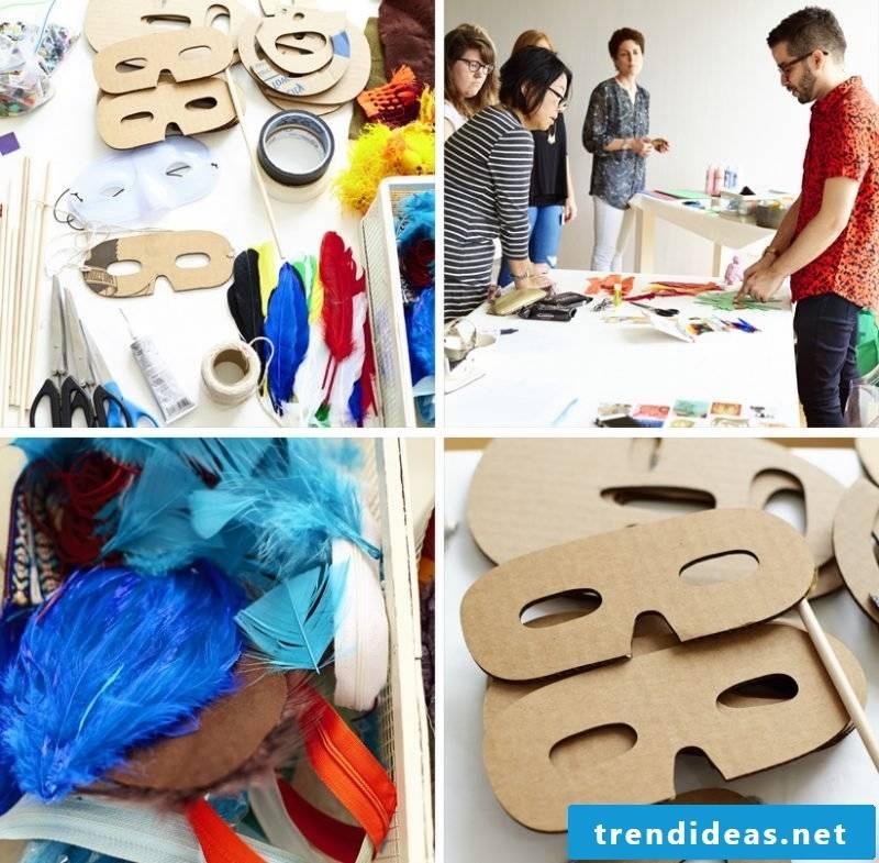 Stencils for printing: DIY Halloween Mask Decorating