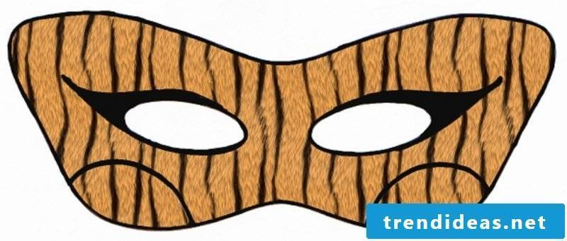 Templates to print for a mask like a tiger