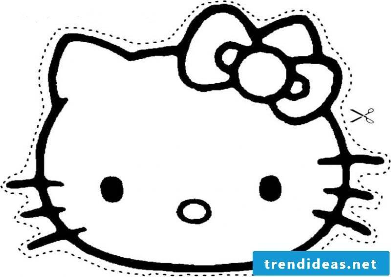 Stencils for printing with Hello Kitty