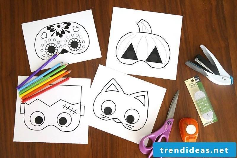 Stencils for printing out for a ghastly Halloween mask