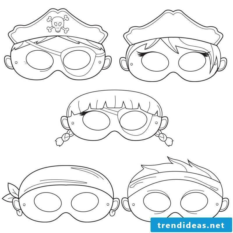 Stencils for printing: Halloween mask