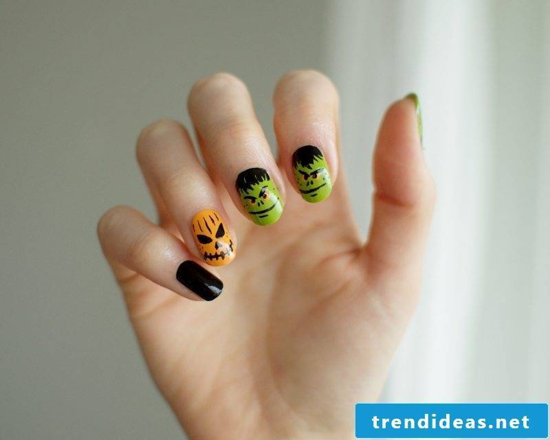 Halloween Nails Colored