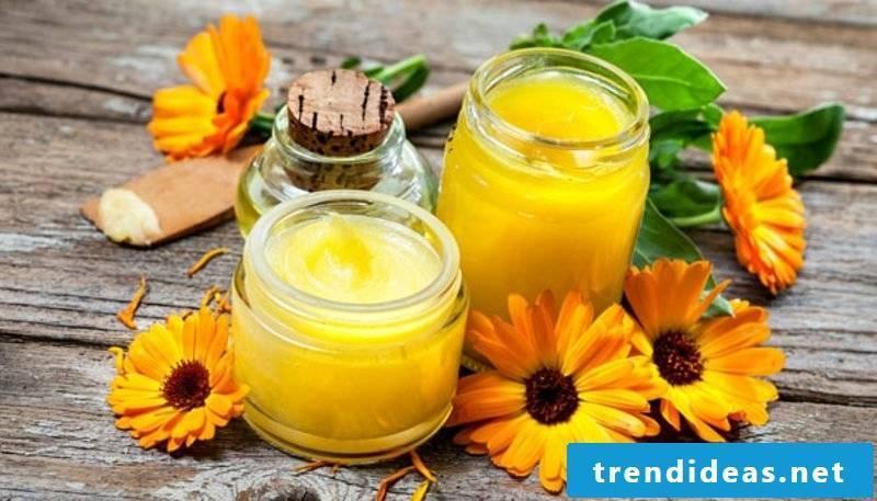 Hand cream itself make marigold