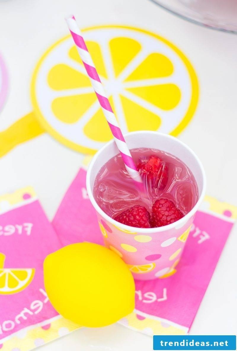 Make pink lemonade yourself